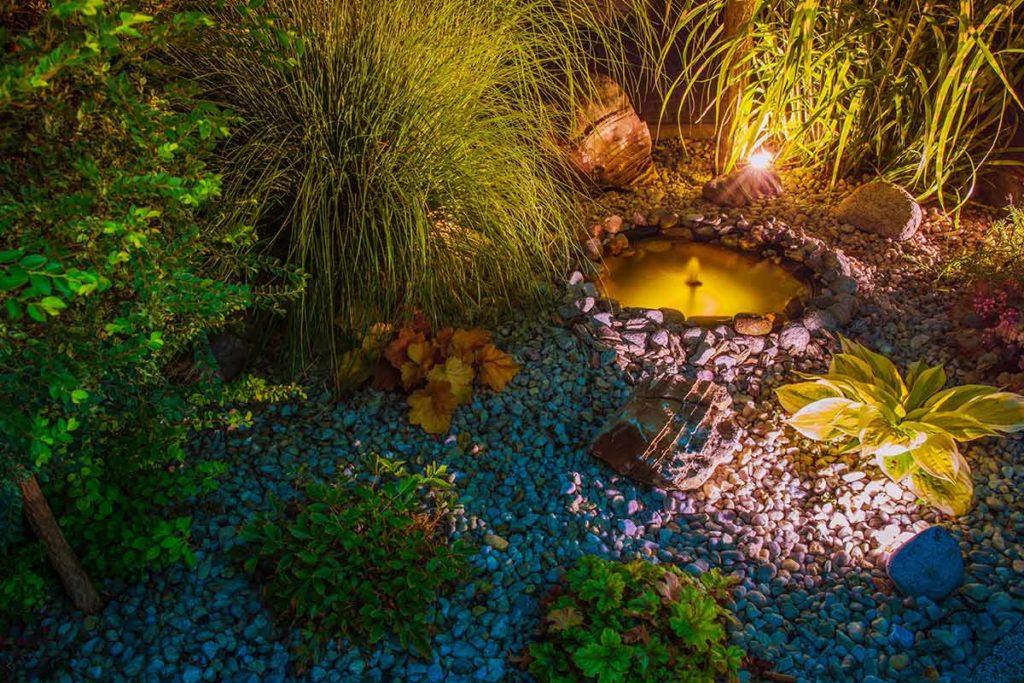 Beleuchtung am Teich